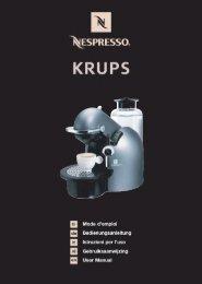 Krups FNA2 - mode d'emploi