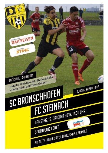 Vorschau: SCB1 - FC Steinach