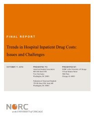 Trends in Hospital Inpatient Drug Costs Issues and Challenges