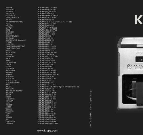 Krups Cafetière programmable Control Line YY8318FD - mode d'emploi