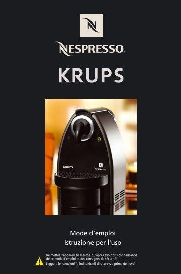 Krups Essenza Automatique Titane YY1538 - mode d'emploi
