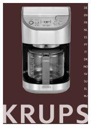 Krups Cafetière Titanium YY8310FD - mode d'emploi