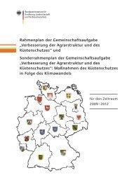 """Rahmenplan der Gemeinschaftsaufgabe """"Verbesserung der - BMELV"""