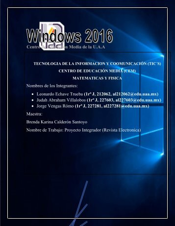 Revista Proyecto Integrador