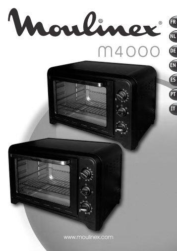 Moulinex Four Chaleur Tournante XL - OX484811 - Modes d'emploi Four Chaleur Tournante XL Moulinex
