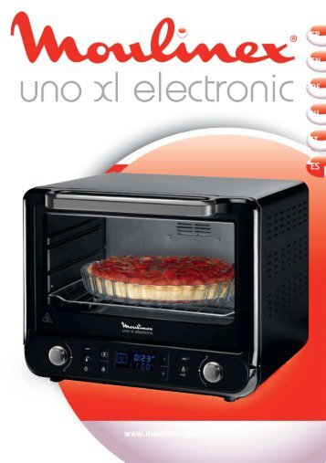 Moulinex four uno electronique xl 30 l noir/chrome - OX6778FR - Modes d'emploi four uno electronique xl 30 l noir/chrome Moulinex