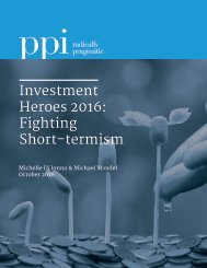 Investment Heroes 2016 Fighting Short-termism