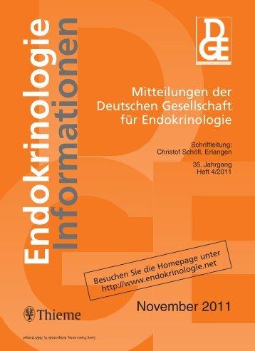 Endokrinologie Informationen - DGE
