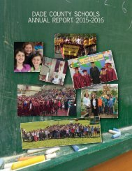 Dade County Schools Annual Report 2015-2016