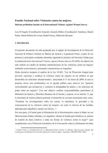 Estudio Nacional sobre Violencias contra las mujeres