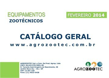 CATALOGO GERAL - AGROZOOTEC