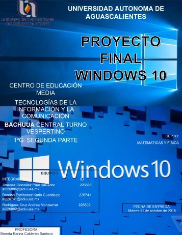 PROYECTO WINDOWS 10