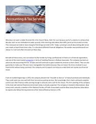 Wallace Associates Tax and Accounting Services