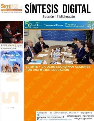 EL SNTE Y LA OCDE COORDINAN ACCIONES POR UNA MEJOR EDUCACIÓN