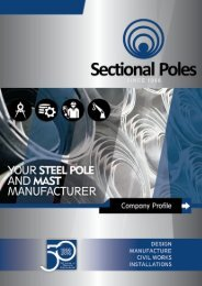 Sectional Poles Profile