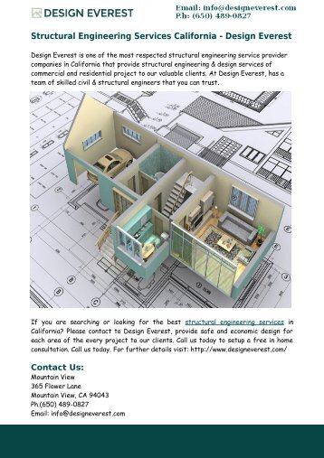 Structural Engineering Services California – Design Everest