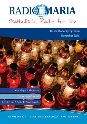 Radio Maria Schweiz - November 2016