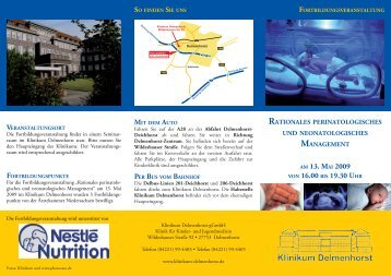 rationales perinatologisches - Klinikum Delmenhorst