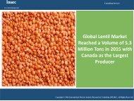Global Lentil Market Report 2016 - 2021