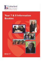 LHS Year 7 & 8 Info Booklet