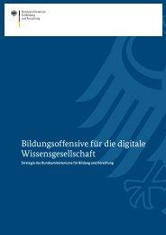 Bildungsoffensive für die digitale Wissensgesellschaft