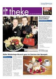 THEKE April 2015   Der regionale Appetitmacher