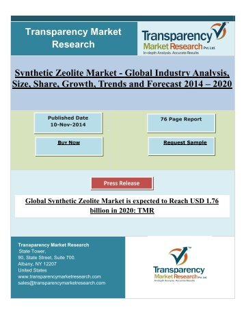 Global Synthetic Zeolite Market is Expected to Reach USD 1.76 billion in 2020.pdf
