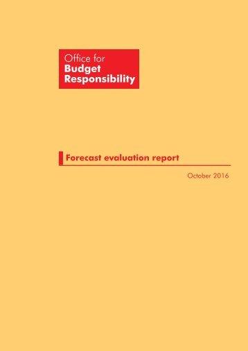 Forecast evaluation report