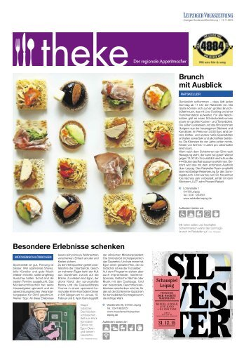 THEKE November 2015 | Der regionale Appetitmacher