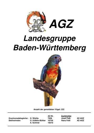 Katalog der AGZ Landesgruppe BW 2016