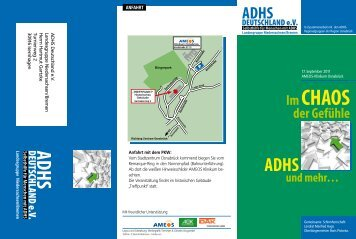 Im CHAOS der Gefühle ADHS und mehr… - Zentrales ADHS Netz