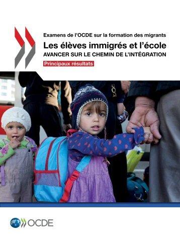 Les élèves immigrés et l'école
