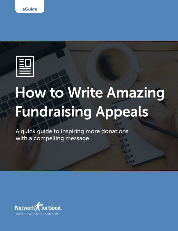 How to Write Amazing Fundraising Appeals