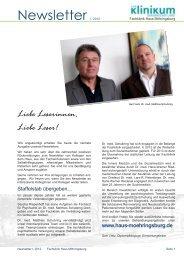 Newsletter I. 2012 - Klinikum Osnabrück