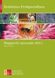 Bollettino ProSpecieRara Rapporto annuale 2011