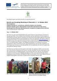 Bericht vom Workshop in Schiltern… - Arche Noah