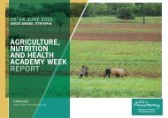 AGRICULTURE NUTRITION AND HEALTH ACADEMY WEEK REPORT