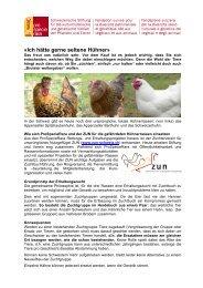 Hühner züchten oder halten - Pro Specie Rara