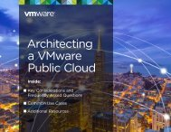 Architecting a VMware Public Cloud