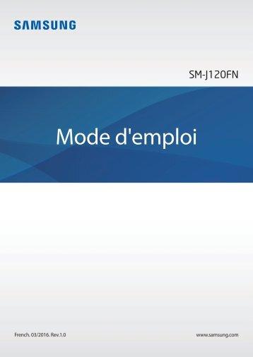 Samsung Smartphone Samsung Galaxy J1 Blanc 2016 - notice
