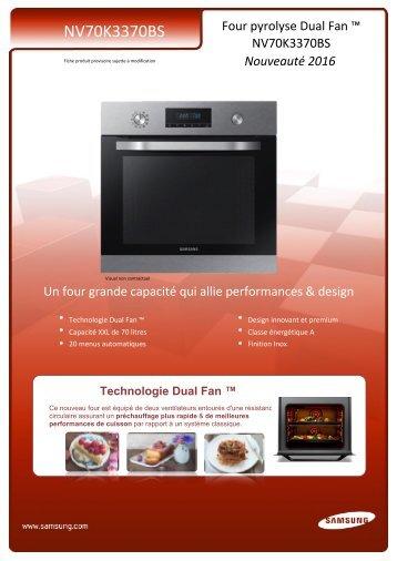 Samsung Four Encastrable Samsung NV70K3370BS - fiche produit