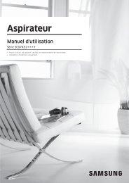 Samsung Aspirateur sans sac Cyclone Anti Emmêlement SC07K51G0HG (VC07K51G0HG/EF ) - Manuel de l'utilisateur (XP / Windows 7) 6.28 MB, pdf, Français