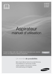 Samsung Aspirateur Concerto avec système Cyclone Force™, 360 W (VCC8680V3K/XEF ) - Manuel de l'utilisateur (XP) 6 MB, pdf, Français
