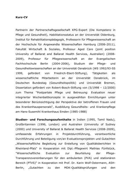 Kurz CV - IPP - Universität Bremen