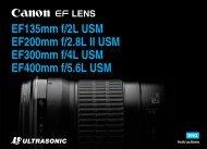 Canon EF 200mm f/2.8L II USM - EF 200mm f/2.8L II USM Instruction Manual