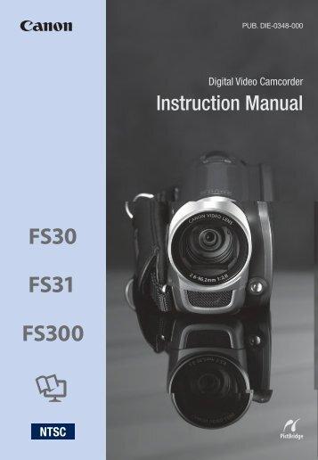 Canon FS31 - FS31 Instruction Manual