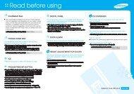 Samsung Side by Side 501L, Froid ventilé - RSA1UHMG (RSA1UHMG1/XEF ) - Guide rapide 1.14 MB, pdf, Anglais