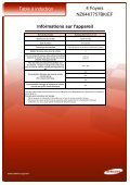 Samsung Table induction Samsung NZ64K7757BK - fiche produit - Page 3
