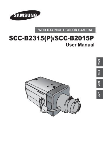 Samsung SCC-B2015P (SCC-B2015P ) - Manuel de l'utilisateur 10.07 MB, pdf, Anglais, Français, JAPONAIS, Espagnol