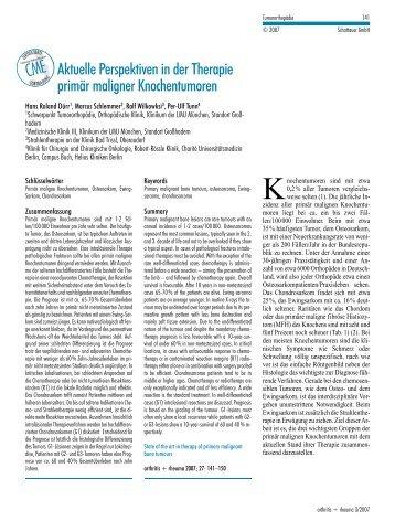 Primaer_maligne_Knochentumoren (pdf) - Tumororthopaedie